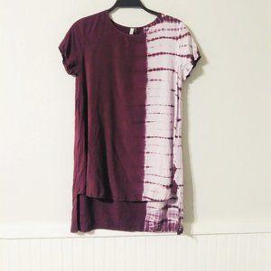 Lori + Mari Tie Dye Ombre Shirt Dress